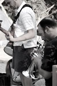 Andy Crawford on bass playing with Jeff Oster on trumpet - 2008